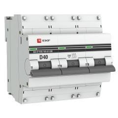 Автоматический выключатель 3P  40А (D) 10kA ВА 47-100 EKF PROxima