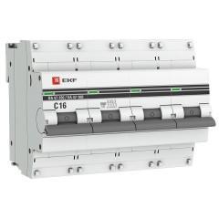 Автоматический выключатель 4P  16А (C) 10kA ВА 47-100 EKF PROxima