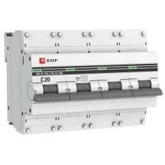 Автоматический выключатель 4P 20А (C) 10kA ВА 47-100 EKF PROxima