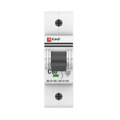 Автоматический выключатель 1P  80А (D) 15кА ВА 47-125 EKF PROxima; mcb47125-1-80D