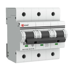 Автоматический выключатель 3P  80А (D) 15кА ВА 47-125 EKF PROxima