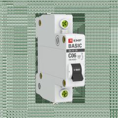 Автоматический выключатель 1P  6А (C) 4