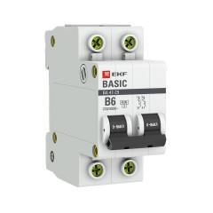 Автоматический выключатель 2P  6А (B) 4