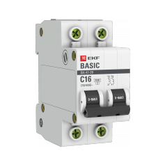 Автоматический выключатель 2P 16А (C) 4