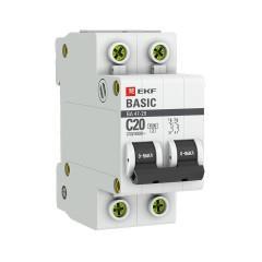 Автоматический выключатель 2P 20А (C) 4