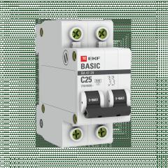 Автоматический выключатель 2P 25А (C) 4