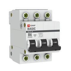 Автоматический выключатель 3P  6А (B) 4