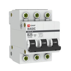 Автоматический выключатель 3P 25А (B) 4