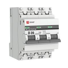 Автоматический выключатель 3P 20А (D) 4