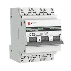 Автоматический выключатель 3P 25А (C) 4