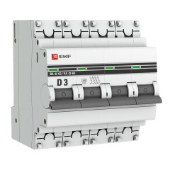Автоматический выключатель 4P  3А (D) 4