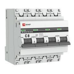 Автоматический выключатель 4P  8А (C) 4