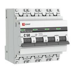 Автоматический выключатель 4P 50А (C) 4