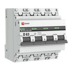 Автоматический выключатель 4P 63А (D) 4