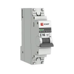 Автоматический выключатель 1P 16А (C) 6кА ВА 47-63 EKF PROxima