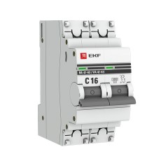 Автоматический выключатель 2P 16А (C) 6кА ВА 47-63 EKF PROxima