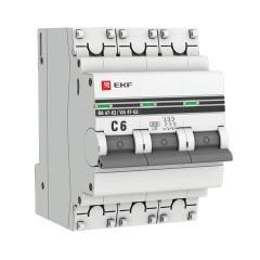 Автоматический выключатель 3P  6А (C) 6кА ВА 47-63 EKF PROxima