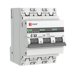 Автоматический выключатель 3P 32А (C) 6кА ВА 47-63 EKF PROxima
