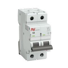Выключатель автоматический AV-6 2P  2A (C) 6kA EKF AVERES