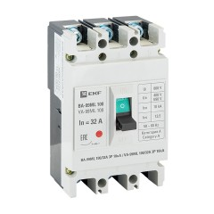 Автоматический выключатель ВА-99МL  100/ 32А 3P 18кА EKF Basic
