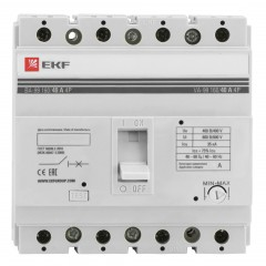 Выключатель автоматический ВА-99  160/ 40А 4P 35кА EKF PROxima