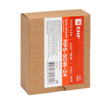 Блок питания 24В MPS-50W-24 EKF Proxima; mps-50w-24