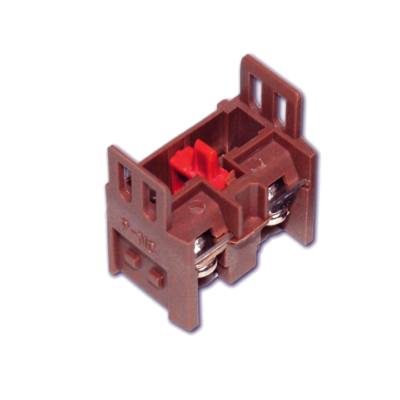 Контакт дополнительный для светосигнальной арматуры NC бордовый EKF PROxima; pbn-01-r