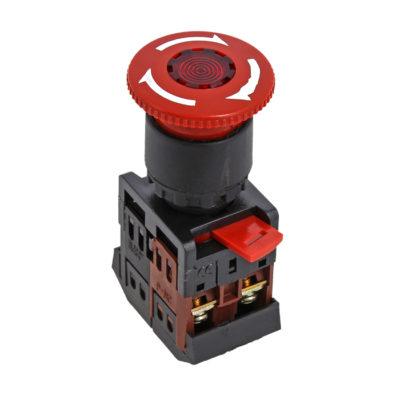 Кнопка AE-22 поворотная блокировка NO+NC Грибок EKF PROxima; pbn-ae