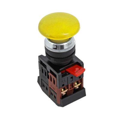 Кнопка AEA-22 желтая NO+NC Грибок EKF PROxima; pbn-aea-o