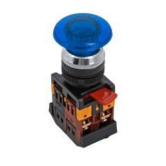Кнопка AELA-22 синяя с подсветкой NO+NC 24В EKF PROxima