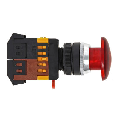 Кнопка AELA-22 красная с подсветкой NO+NC 220В Грибок EKF PROxima; pbn-aela-1r-220