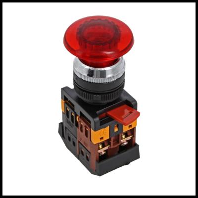 Кнопка AELA-22 красная с подсветкой NO+NC 24В EKF PROxima; pbn-aela-1r-24