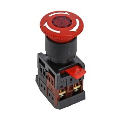 Кнопка ANE-22 поворотная c блокировкой и подстветкой NO+NC Грибок EKF PROxima