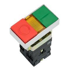 "Кнопка  LAY5-BW8465 ""I-O"" прямоугольная 230В NO+NC EKF PROxima"
