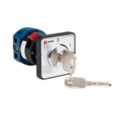 Переключатель кулачковый ПК-1-112 25А 2P «0-1» с ключом EKF PROxima