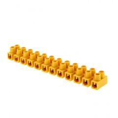 Колодка клеммная (12мм.) 16А полистирол желтая (10шт.) EKF PROxima