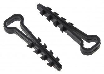 Дюбель-хомут (6х12 мм) для плоского кабеля черный (10 шт.) EKF PROxima