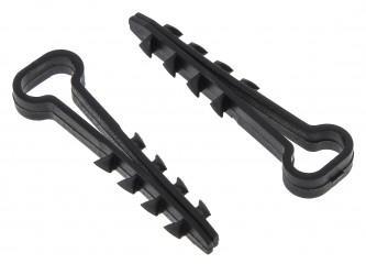 Дюбель-хомут (6х12 мм) для плоского кабеля черный (100 шт.) EKF PROxima