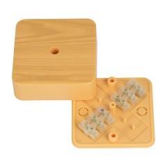 Коробка разветвительная КМР-030-030кг (75х75х26) с клеммником светлое дерево EKF PROxima