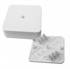 Коробка разветвительная КМР-030-030кг наружная (75х75х26) белая с клеммником EKF  PROxima