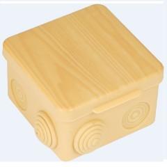 Коробка распаячная  КМР-030-031 с крышкой (80х80х50) 7 мембранных вводов светлое дерево IP54 EKF PROxima