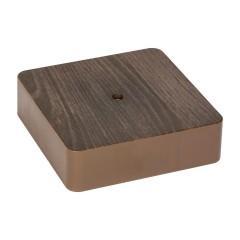 Коробка разветвительная KMP-030-032 (100х100х28)  тёмное дерево EKF PROxima