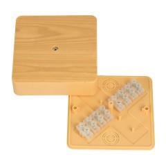 Коробка разветвительная КМР-030-032кг (100х100х28)  с клеммником светлое дерево EKF PROxima