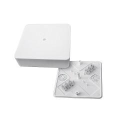 Коробка разветвительная КМР-030-032кг наружная (100х100х28) белая с клеммником EKF PROxima