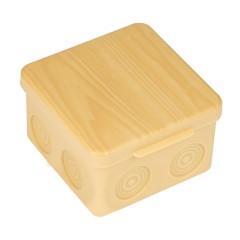Коробка распаячная КМР-030-034 пылевлагозащищенная без мембранных вводов (100х100х55) светлое дерево EKF PROxima