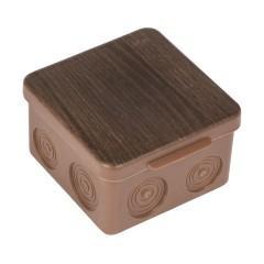 Коробка распаячная КМР-030-035 пылевлагозащищенная без мембранных вводов (80х80х50) тёмное дерево EKF PROxima