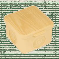 Коробка распаячная КМР-030-037 пылевлагозащищенная без мембранных вводов (65х65х50) светлое дерево EKF PROxima