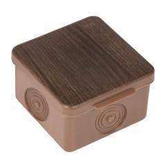 Коробка распаячная КМР-030-037 пылевлагозащищенная без мембранных вводов (65х65х50) тёмное дерево EKF PROxima