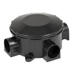 Коробка распаячная КМР-040-040б трехрожковая черная  (70х35) EKF PROxima