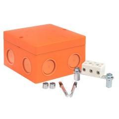 Коробка распаячная огнестойкая (101х101х62) 3 клеммные колодки/1